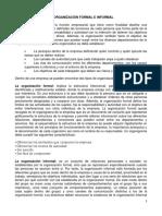 Organizacion formal e informal