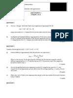 Mec500 (2012) Assignment 1