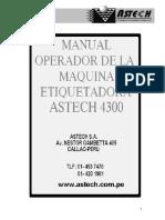 Manual Etiquetadora ASTECH - 4300 _Serie 2008