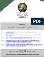 Fauquier County Board of Supervisors Agenda November 9, 2017