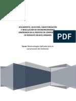 Aislamiento, Selección, Caracterización e Inoculación de Microorganismos Endógenos en El Proceso de Compostaje de Residuos Sólidos Urbanos
