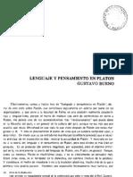 Lenguaje y pensamiento en Platón - Gustavo Bueno