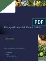 Manejo de La Fertilidad en Frutales