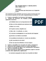 1º Evaluación Lengua Bachillerato