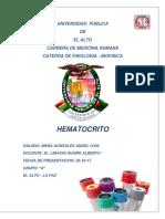 Informe Hematocrito