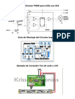 Circuito Dimmer PWM Para LEDs Con 555