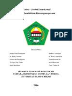 Pendidikan Kewarganegaraan Model - Model Demokrasi.docx