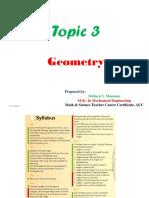 Topic 3 Geometry