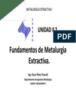Unidad 2 Fundamentos de Metalurgia Extractiva
