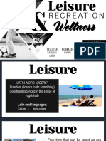 RECREATION, LEISURE AND WELLNESS