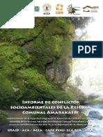 Informe de Conflictos Socioambientales en la Reserva Comunal Amarakaeri