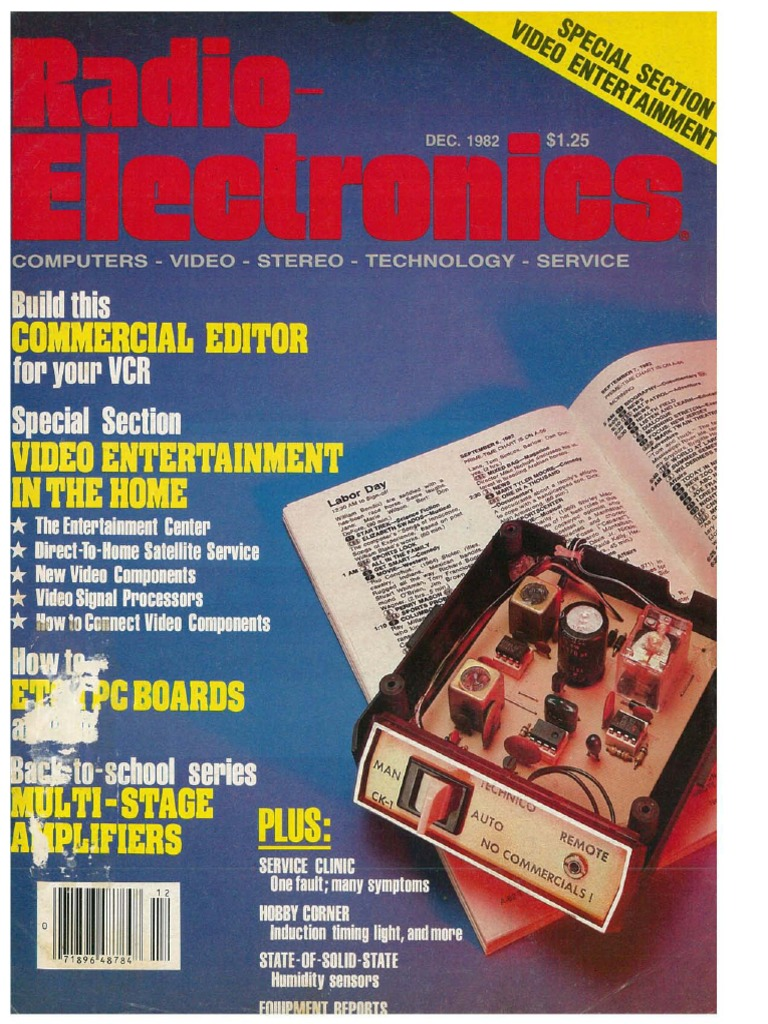 Radio Electronics December 1982pdf Treble Boost Up Using Lm741 Circuit Wiring Diagrams