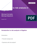 Risk Analysis in Litigation
