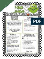 6th grade math newsletter october30