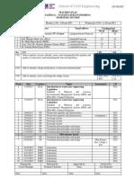Teaching Plan Eap 582 Wastewater Engineering Sem 1 20172018