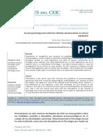 Apodaka, E. & Villareal, M. (2015). Psicología Social e Identidad Colectiva