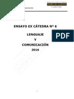 907-Ex Cátedra N°6 Lenguaje 2016