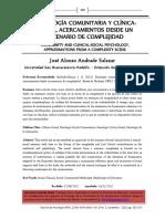 Salazar, J. (2012). Psicología Comunitaria y Clínica-Social