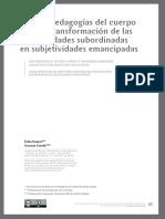 Ramos, E. & Conde, G. (2015). Nuevas Pedagogías Del Cuerpo