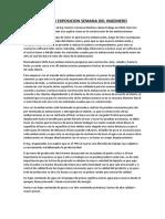 Resumen Exposicion Semana Del Ingeniero.docx