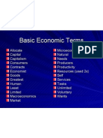 Basic Economics Word Bank 1