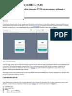 Como Centralizar Divs Em HTML e CSS