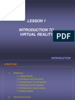 Lesson 1- Introduction to Virtual Reality