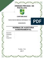 Monografia Normas de Auditoria Gubernamental