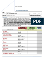nursing skills checklist 1