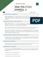 Guía Sistema politico español I