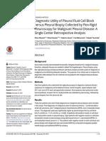 Diagnostic Utility of Pleural Fluid Cell Block