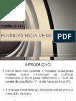 Cap_11 - Politica Fiscal e Monetária