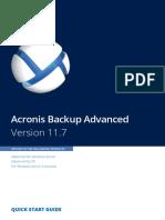 AcronisBackupAdvanced 11.7 Quickstart en-US