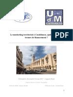 Le   marketing   territorial   à   Casablanca,   quels   impacts   en termes   de   financement   ?