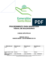 MTO-PRO-09 Procedimiento Para Inspeccion Visual de Soldaduras