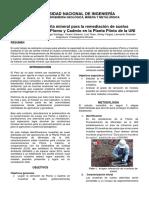 Remediación de Suelos Contaminados Con Pb y CD Utilizando Zeolita