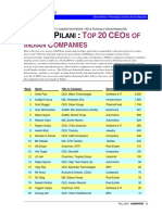 Top 20 Indian Ceos Fall 2003