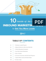 10 Out of the Box Inbound Marketing Ideas