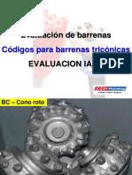 Evaluacion de Desgaste - Codigos IADC para Triconicas