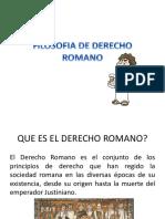 Filosofia de Derecho Romano