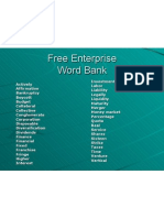 Free Enterprise Word Bank