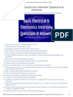 Basic Electrical & Electronics Interview Questions & Answers