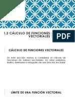 1.2 Calculo de Funciones Vectoriales Clase 2
