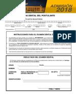 4. Ficha Dental Del Postulante 2017-2018