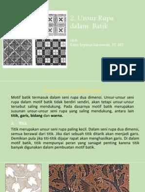 Seni Rupa 2 Dimensi Batik - Moa Gambar