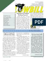 Fresno Audubon's Yellowbill, Sep 2010 edition