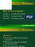 Government Growth, Goals & the Public