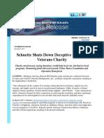 Schuette Shuts Down Deceptive National Veterans Charity