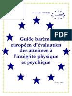 Guide Médical Du Barème Européen