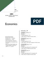 Economics Hsc Exam 2003